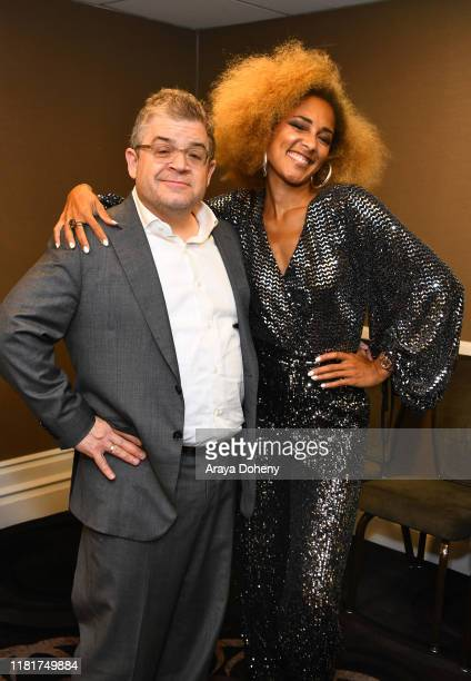 Patton Oswalt and Amanda Seales attend the International Myeloma Foundation 13th Annual Comedy Celebration at The Beverly Hilton Hotel on October 17...