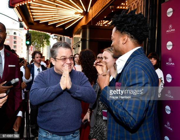 Patton Oswalt and Jermaine Fowler attend the Sundance Institute at Sundown Summer Benefit at the Ace Hotel on June 14, 2018 in Los Angeles,...