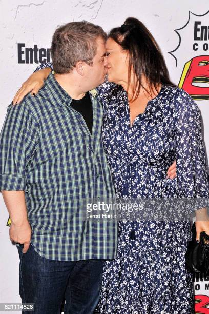 Patton Oswalt and Meredith Salenger arrive at Entertainment Weekly's Annual ComicCon Party at Float at Hard Rock Hotel San Diego on July 22 2017 in...