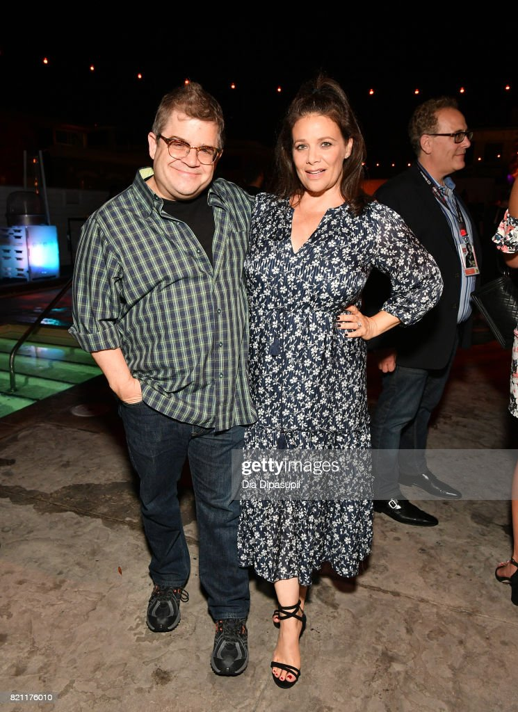 Patton Oswalt and Meredith Salenger at Entertainment Weekly's annual Comic-Con party in celebration of Comic-Con 2017 at Float at Hard Rock Hotel San Diego on July 22, 2017 in San Diego, California.