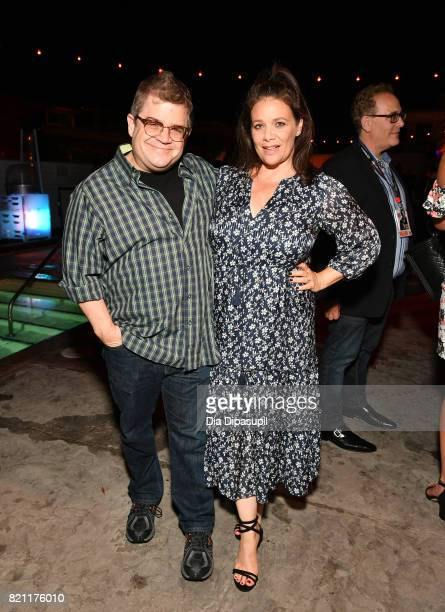 Patton Oswalt and Meredith Salenger at Entertainment Weekly's annual ComicCon party in celebration of ComicCon 2017 at Float at Hard Rock Hotel San...