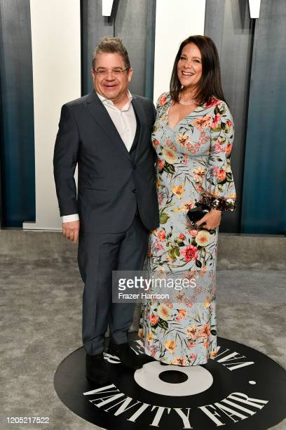 Patton Oswalt and Meredith Salenger attend the 2020 Vanity Fair Oscar Party hosted by Radhika Jones at Wallis Annenberg Center for the Performing...
