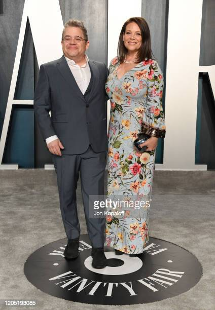 Patton Oswalt and Meredith Salenger attends the 2020 Vanity Fair Oscar Party hosted by Radhika Jones at Wallis Annenberg Center for the Performing...
