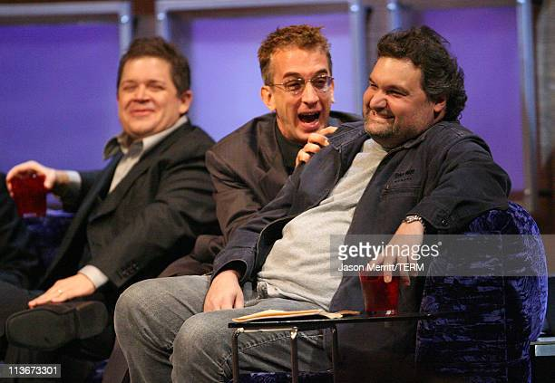 Patton Oswalt Andy Dick and Artie Lange during Comedy Central's Roast of William Shatner Show at CBS Studio Center in Studio City California United...