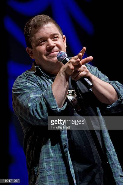 Patton Oswalt attends day one of the Chicago Comic Entertainment Expo at McCormick Place on March 18 2011 in Chicago Illinois