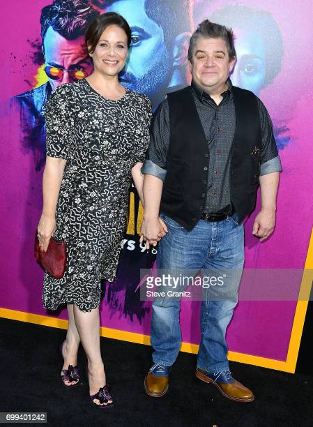 Patton Oswalt Meredith Salenger arrives at the Premiere Of AMC's 'Preacher' Season 2 at The Theatre at Ace Hotel on June 20 2017 in Los Angeles...