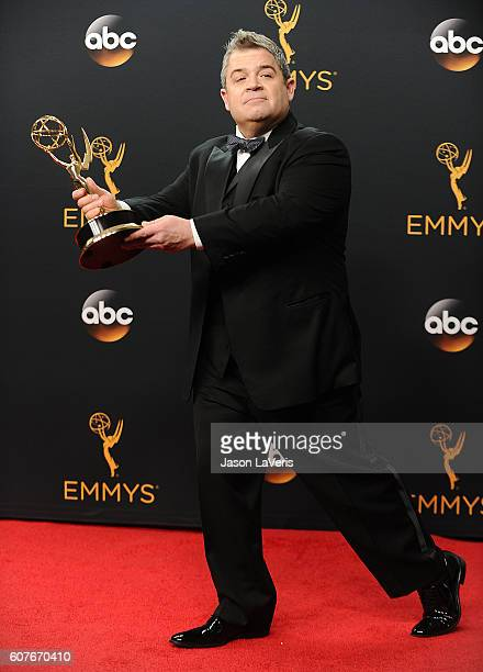 Patton Oswalt poses in the press room at the 68th annual Primetime Emmy Awards at Microsoft Theater on September 18, 2016 in Los Angeles, California.