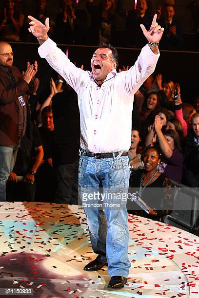Patty Doherty celebrates winning the Celebrity Big Brother Final at Elstree Studios on September 8 2011 in Borehamwood England