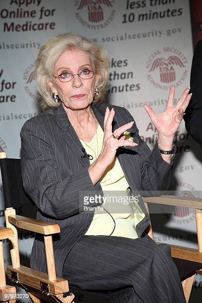 Patty Duke attends the Social Security reunion of the cast of The Patty Duke Show at The Paley Center for Media on March 23 2010 in Beverly Hills...