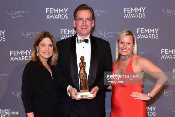 Patty Ficorilli Bob Kirkwood and Kristin Altimari attend 2018 Femmy Awards hosted by Dita Von Teese on February 6 2018 in New York City
