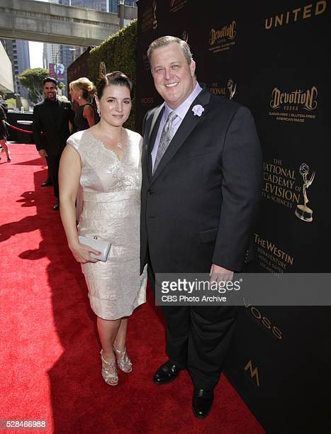Patty Gardell and Billy Gardell on the red carpet at THE 43RD ANNUAL DAYTIME EMMY AWARDS held on Sunday May 1 2016 in Los Angeles California