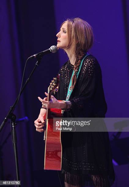 Patty Griffin performs on stage during The Life Songs of Emmylou Harris An All Star Concert Celebration at DAR Constitution Hall on January 10 2015...