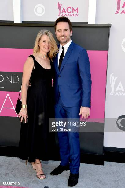 Patty Hanson and actor Charles Esten attend the 52nd Academy Of Country Music Awards at Toshiba Plaza on April 2 2017 in Las Vegas Nevada