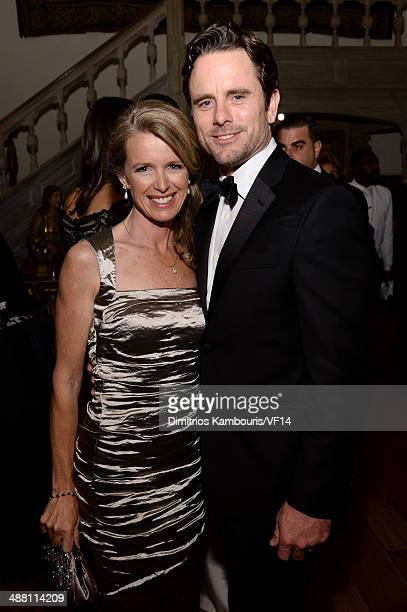 Patty Hanson and Charles Esten attend the Bloomberg Vanity Fair cocktail reception following the 2014 WHCA Dinner at Villa Firenze on May 3 2014 in...
