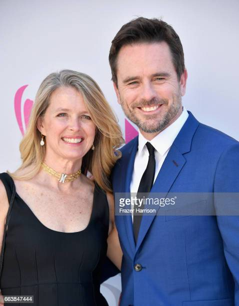 Patty Hanson and recording artistactor Charles Esten attend the 52nd Academy Of Country Music Awards at Toshiba Plaza on April 2 2017 in Las Vegas...