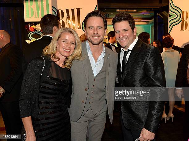 Patty Hanson Charles Esten and Jay DeMarcus attend the 61st annual BMI Country awards on November 5 2013 in Nashville Tennessee