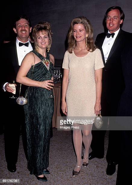 Patty Hearst and Blaine Trump with their husbands circa 1991 in New York City.