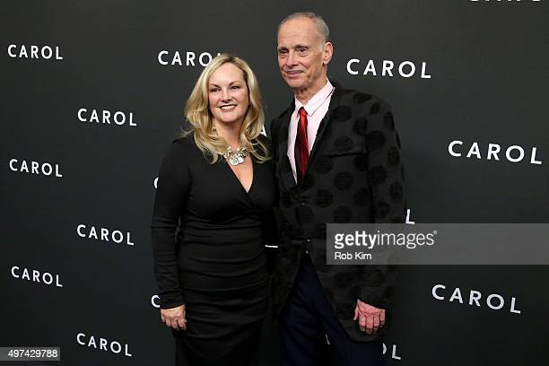 Patty Hearst and director John Waters attend the New York premiere of 'Carol' at the Museum of Modern Art on November 16 2015 in New York City