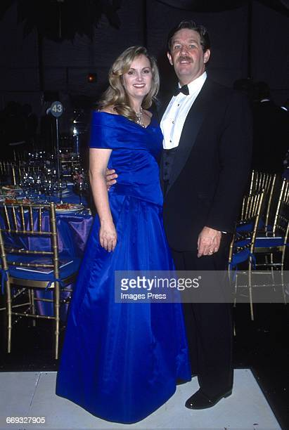 Patty Hearst, Bernard Shaw attends the 8th Annual Rita Hayworth Gala to benefit the Alzheimer's Foundation held at Tavern on the Green circa 1992 in...