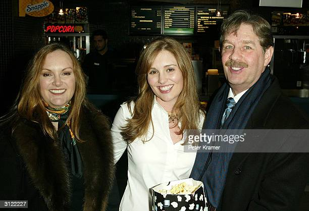 Patty Hearst Gillian Hearst and Bernard Shaw attend a private screening of The Ladykillers on March 22 2004 at the Landmark Sunshine Cinema in New...