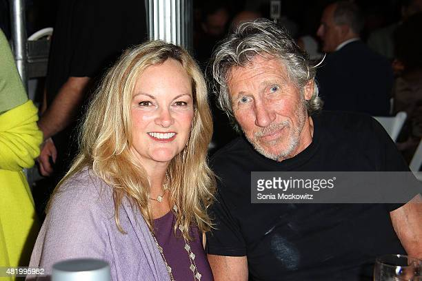 Patty Hearst Shaw and Roger Waters attend the 22nd Annual Summer Benefit and Auction 'Circus of Stillness' at The Watermill Center on July 25 2015 in...