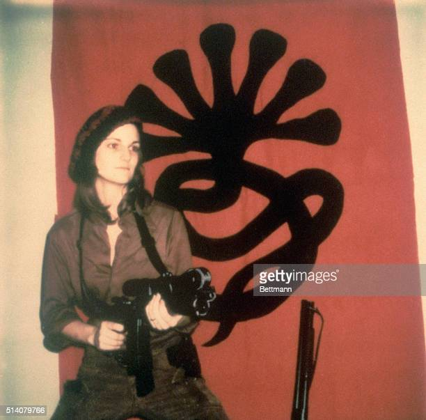 Patty Hearst with Machine Gun