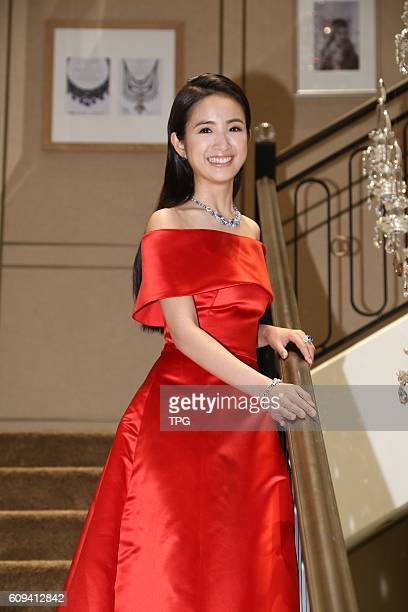 Patty Hou and Ariel Lin attend the opening ceremony of a brand jewelry store on 20th September 2016 in Taipei Taiwan China