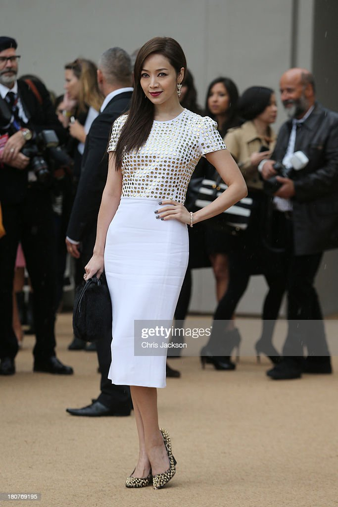 Patty Hou attends the Burberry Prorsum show at London Fashion Week SS14 at Kensington Gardens on September 16, 2013 in London, England.