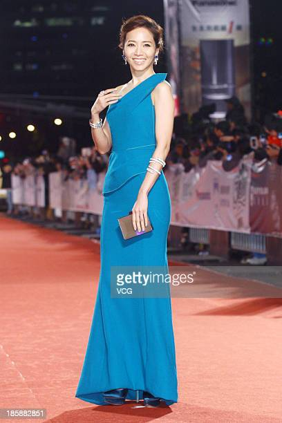 Patty Hou attends the red carpet of the 48th Golden Bell Award on October 25 2013 in Taipei Taiwan of China