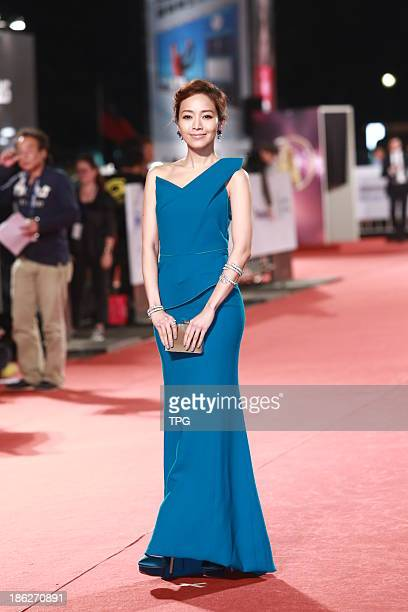 Patty Hou attends the red carpet of the 48th Golden Bell Award on Friday October 252013 in TaipeiChina