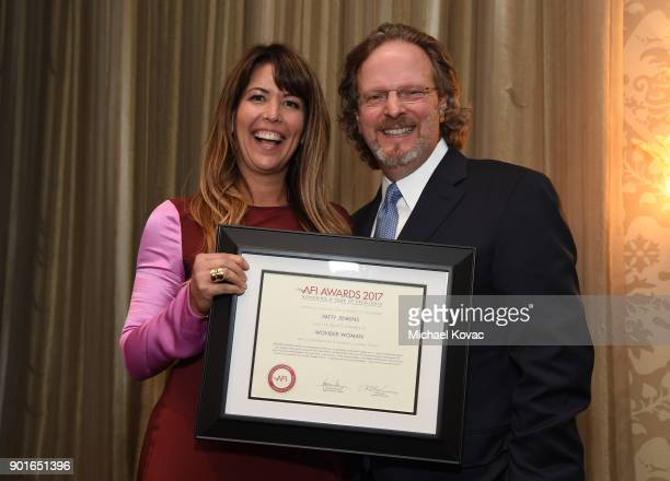 Patty Jenkins and American Film Institute president and CEO Bob Gazzale attend the 18th Annual AFI Awards at Four Seasons Hotel Los Angeles at...