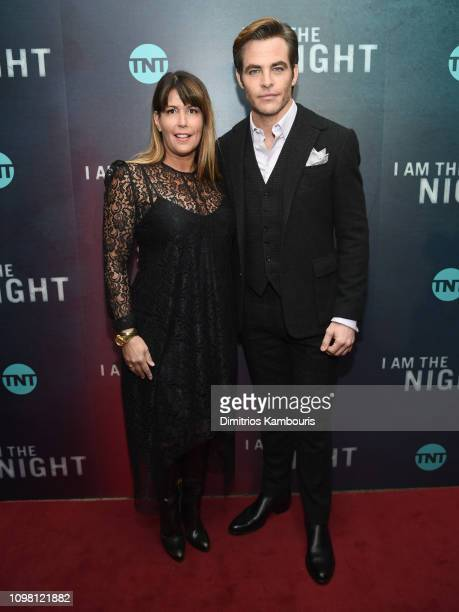 Patty Jenkins and Chris Pine attend the I Am The Night New York Premiere at Metrograph on January 22 2019 in New York City