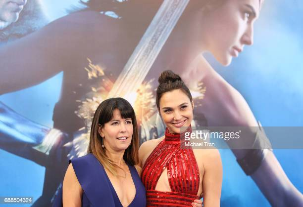 Patty Jenkins and Gal Gadot arrive at the Los Angeles premiere of Warner Bros Pictures' 'Wonder Woman' held at the Pantages Theatre on May 25 2017 in...