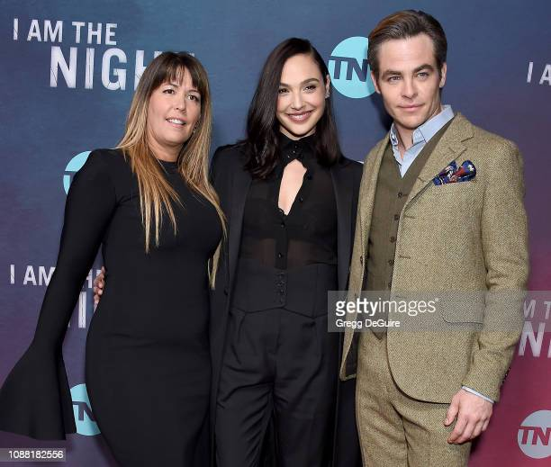 Patty Jenkins Gal Gadot and Chris Pine attend the Premiere Of TNT's I Am The Night at Harmony Gold on January 24 2019 in Los Angeles California