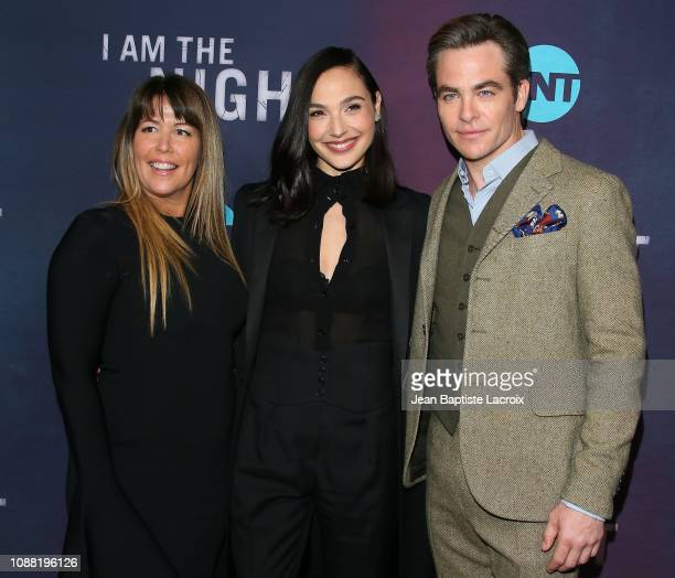 Patty Jenkins Gal Gadot and Chris Pine attend the Premiere Of TNT's 'I Am The Night' at Harmony Gold on January 24 2019 in Los Angeles California