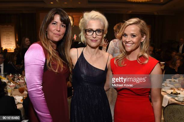 Patty Jenkins Gillian Anderson and Reese Witherspoon attend the 18th Annual AFI Awards at Four Seasons Hotel Los Angeles at Beverly Hills on January...