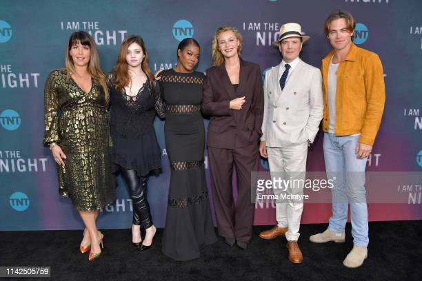 Patty Jenkins India Eisley Golden Brooks Connie Nielsen Jefferson Mays and Chris Pine attend TNT's I Am The Night FYC Event on May 9 2019 in North...