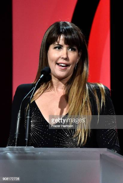 Patty Jenkins on stage at the 29th Annual Producers Guild Awards at The Beverly Hilton Hotel on January 20 2018 in Beverly Hills California