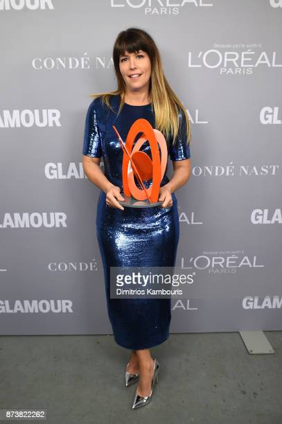 Patty Jenkins poses with an award at Glamour's 2017 Women of The Year Awards at Kings Theatre on November 13 2017 in Brooklyn New York