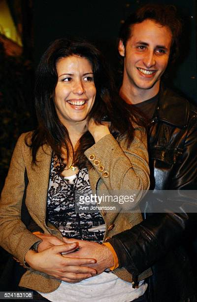 Patty Jenkins screenwriter and director of the movie 'Monster' stands with her boyfriend Jesse Stern outside the restaurant Cafe des Artistes...