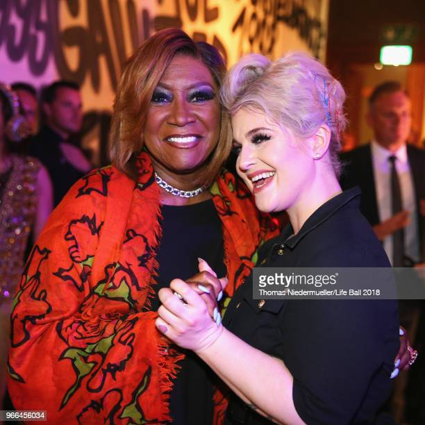 Patty LaBelle and Kelly Osbourne attend the Life Ball 2018 after show party at City Hall on June 2 2018 in Vienna Austria The Life Ball an annual...