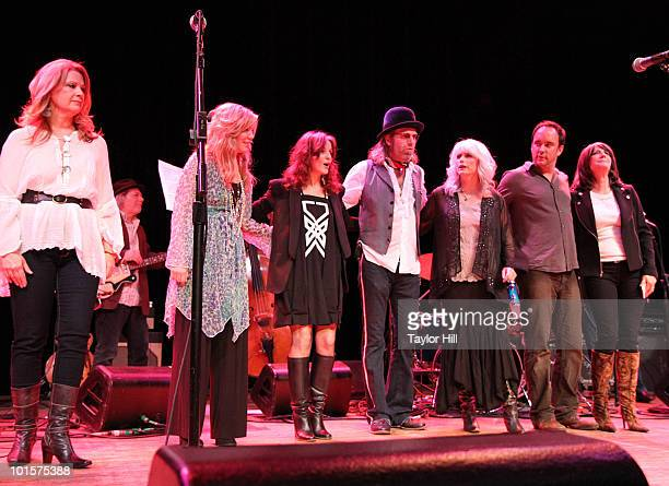 Patty Loveless Allison Krauss Patty Griffin Big Kenny Alphin Emmylou Harris Dave Matthews and and Kathy Mattea perform during the Music Saves...
