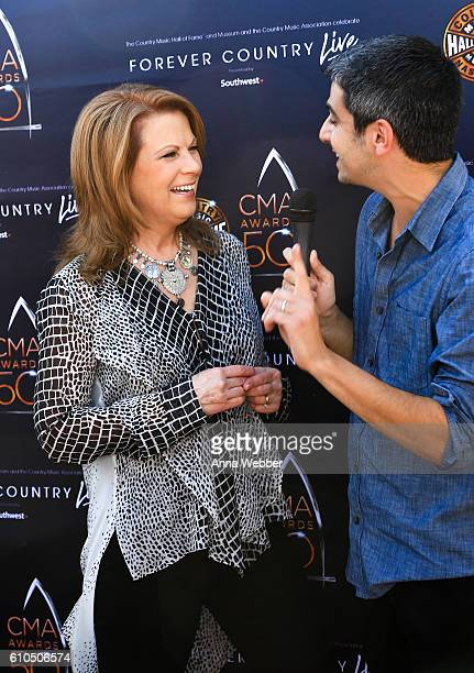 Patty Loveless attends The Country Music Hall of Fame and Museum and the Country Music Association Celebrate Forever Country LIVE presented by...