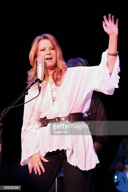 Patty Loveless performs during the Music Saves Mountains benefit concert at the Ryman Auditorium on May 19 2010 in Nashville Tennessee