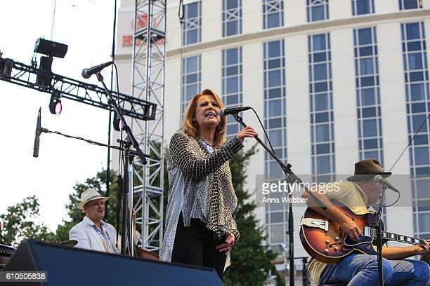 Patty Loveless performs with Vince Gill and the Time Jumpers during The Country Music Hall of Fame and Museum and the Country Music Association...