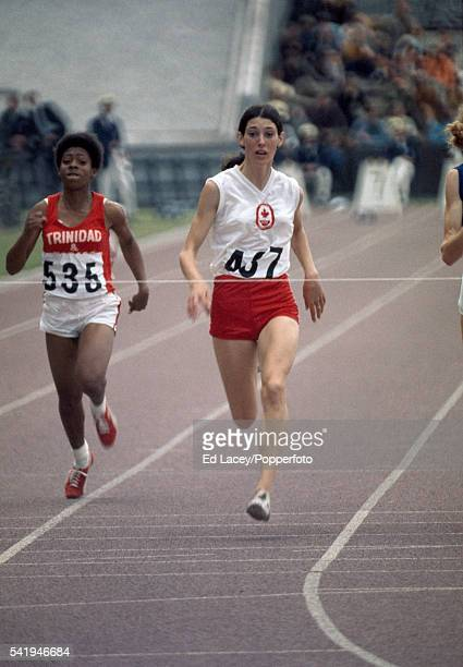Patty Loverock of Canada participating in the women's 100 metres event during the British Commonwealth Games in Edinburgh circa July 1970