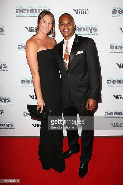 Patty Mills and Alyssa Levesque arrive at the 2013 Deadly Awards at the Sydney Opera House on September 10 2013 in Sydney Australia The Deadly Awards...