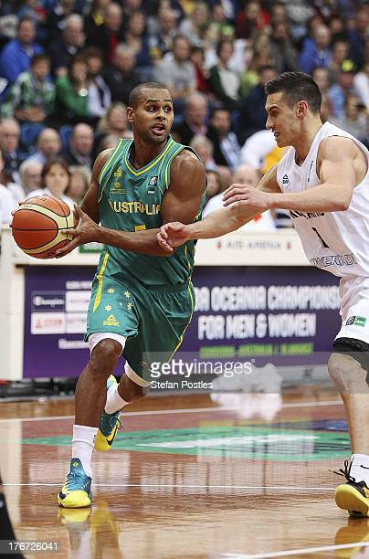 Patty Mills of the Boomers in action during the Men's FIBA Oceania Championship match between the Australian Boomers and the New Zealand Tall Blacks...