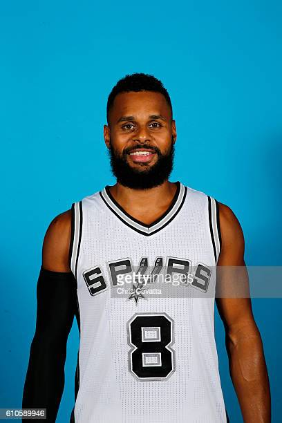Patty Mills of the San Antonio Spurs poses for a headshot during the 20162017 San Antonio Spurs Media Day at the Spurs Training Facility on September...
