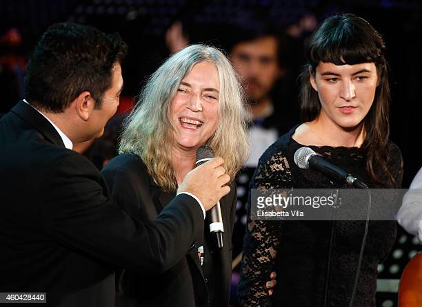 Patty Smith and her daughter Jesse Smith attend the Christmas Concert 2014 at Auditorium Conciliazione on December 13 2014 in Rome Italy